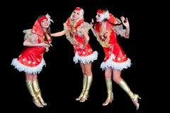 3 молодых красивейших женщины в платьях Стоковые Изображения