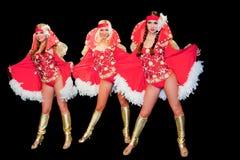 3 молодых красивейших женщины в платьях Стоковое Изображение