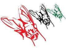 3 мухы Стоковая Фотография