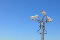 3 напольных камеры слежения стоковое изображение rf
