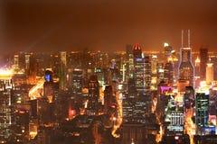 3 ноча shanghai стоковое изображение rf