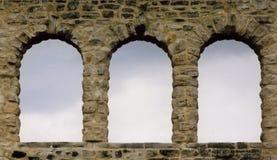 3 окна утеса Стоковая Фотография RF