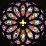 3 окно запятнанное стеклами Стоковое Изображение RF