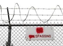 3 отсутствие trespassing Стоковые Изображения
