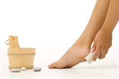 3 очищая ноги Стоковое Фото