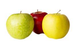 3 покрашенных яблока Стоковые Изображения RF