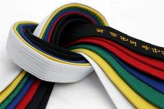 3 пояса искусств военного Стоковое фото RF