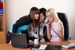 3 прелестно женщины на офисе Стоковое Фото