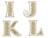 3 прописных золотистых письма Стоковое Изображение RF