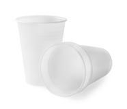 3 пустых пластичных чашки Стоковые Изображения RF