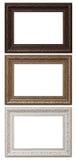 3 пустых рамки фото Стоковые Изображения RF