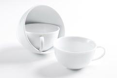 3 различных белых чашки Стоковая Фотография RF