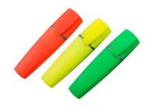 3 ручки Highlighter Стоковая Фотография