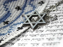 3 символа крупного плана еврейских вероисповедных Стоковое фото RF