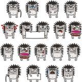 3 смешных hedgehogs стоковые фотографии rf