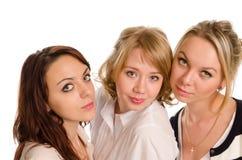 3 стильных студента колледжа Стоковая Фотография