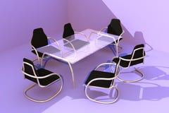 3 стула конструируют таблицу Стоковая Фотография RF