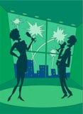 3 счастливых новых года партии Стоковое фото RF