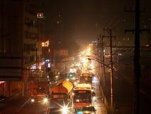 3 улицы shanghai ночи Стоковая Фотография