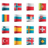 3 флага европы разделяют вектор Стоковые Фотографии RF