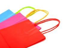 3 цветастых бумажных мешка подарка Стоковые Изображения RF