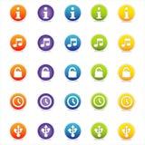 3 цветастых иконы vector сеть иллюстрация штока