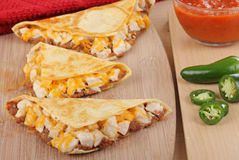 3 цыпленок Quesadillas Стоковые Фотографии RF