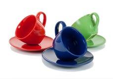 3 чашки чая стоковые фотографии rf