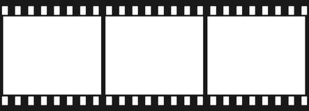 3 черных плоских изображения Стоковое фото RF