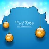3 шарика рождества Стоковое Фото