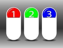 3 ярлыка на черной предпосылке Стоковое Изображение RF