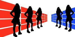 3说明的妇女 免版税库存照片