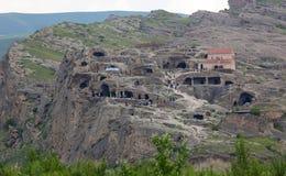 3.000 années de ville Uplistsikhe de caverne. La Géorgie. Photo stock