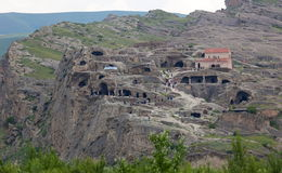 3.000 anni della città Uplistsikhe della caverna. Georgia. Fotografia Stock