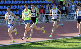 3,000 meters race Stock Photo