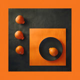 3+1. Still life with oranges Royalty Free Stock Photo