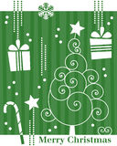 3个看板卡圣诞节减速火箭的结构树 皇族释放例证