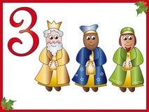 3 12 magi de jours de Noël illustration stock