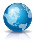 глобус 3 син Стоковое Изображение RF
