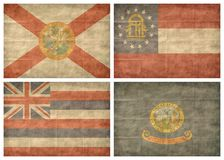 3/13 US state flags. Retro US state flags isolated on white background Stock Photo