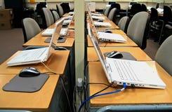3台计算机实验室 免版税库存照片