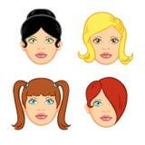 3根头发妇女 库存照片