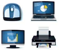 3个图标办公室零件集合向量 免版税库存图片