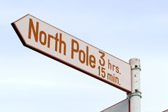 3 15 hrs分钟北极 库存图片