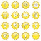 3 16个按钮图标集合星形万维网 库存照片