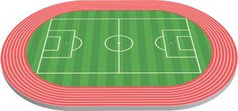 3尺寸域橄榄球球场 图库摄影