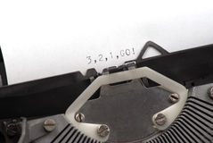 3,2,1 go written with old typewriter Royalty Free Stock Photos