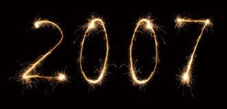 3 2007年闪烁发光物 免版税图库摄影