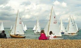 3 2010年cowes充气救生艇赛跑的星期 免版税库存图片
