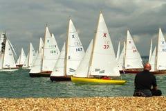 3 2010年cowes充气救生艇赛跑的星期 免版税库存照片